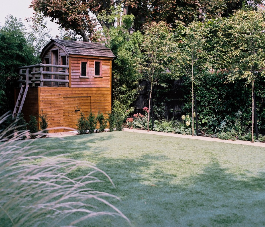 Family garden in West London